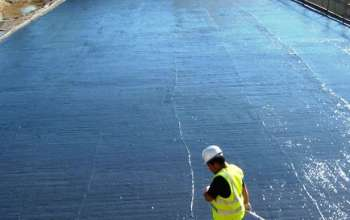 Liquid waterproofing membrane / for floors / for foundations / bituminous